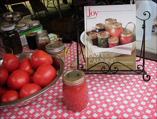 Canning Exhibit at the Adirondack Homesteading Festival (29 September 2012)