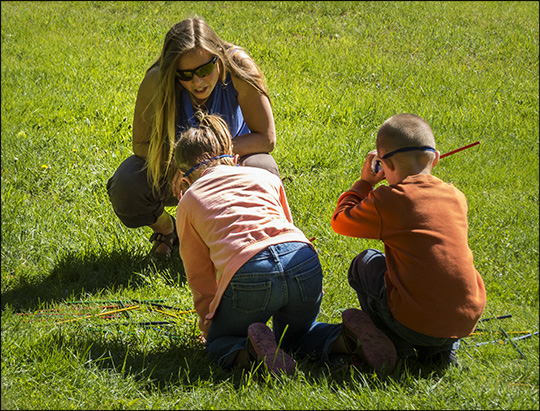 Children's Nature Programs:  Playing 'A Bee's Life' Game on Monarch Meadow