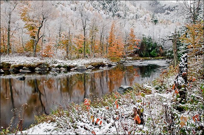 John DiGiacomo:  October Snow along Ausable River