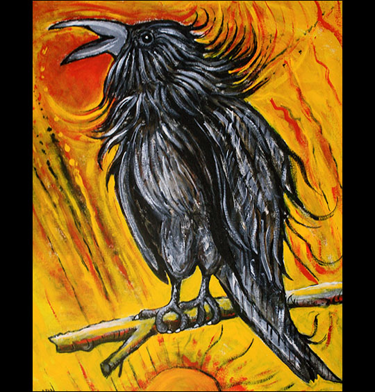 Arnold Sauther: Firebird.  Acrylics.