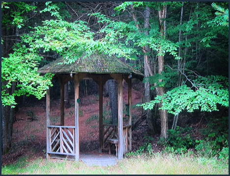 Gazebo on the Silviculture Trail at the Paul Smiths VIC