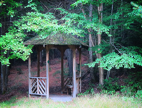 Gazebo near the radial plantation on the Silvi Trail (25 July 2012)