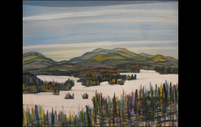 Nancy Brossard: Lower Saranac Lake-Winter