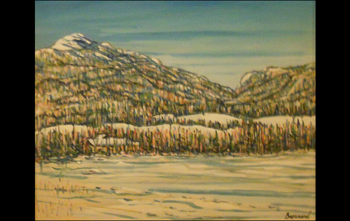 Nancy Brossard: Adirondack Loj Road-Winter