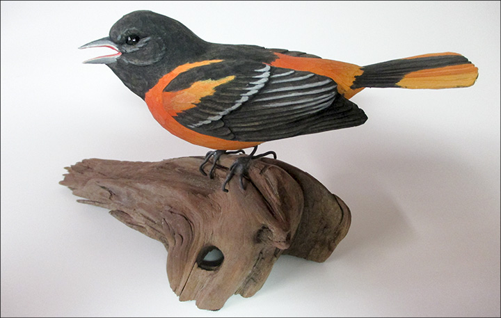 Allen Aardsma: Baltimore Oriole.  2016 Birds of a Feather Invitational Art Show