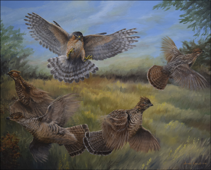 Painting by Denise Leavitt.  2016 Birds of a Feather Invitational Art Show