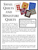 Small Quilt Workshop Flyer