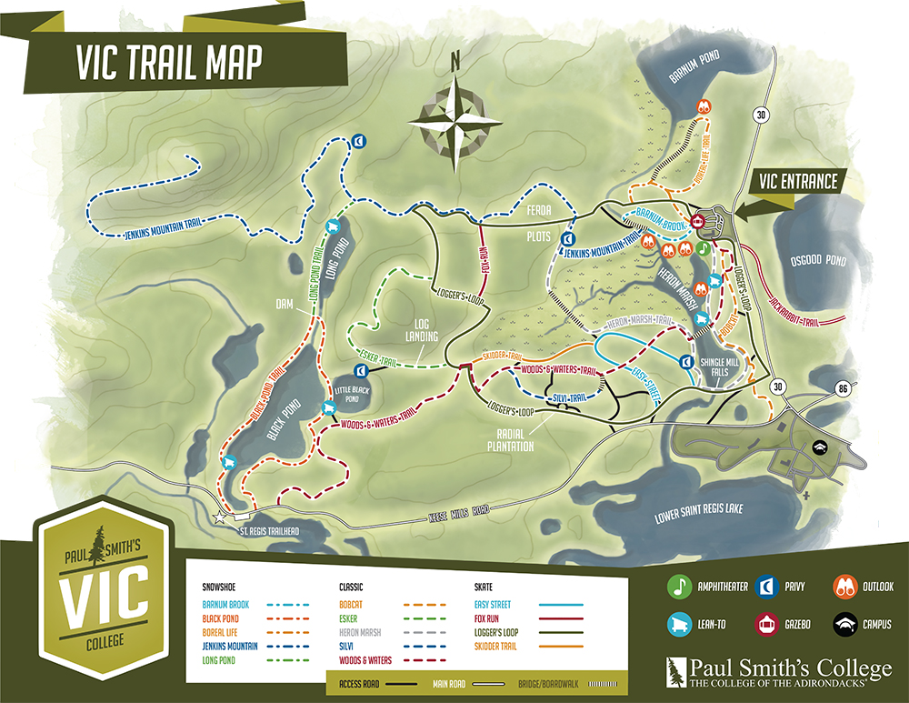 Paul Smiths VIC Trail Map