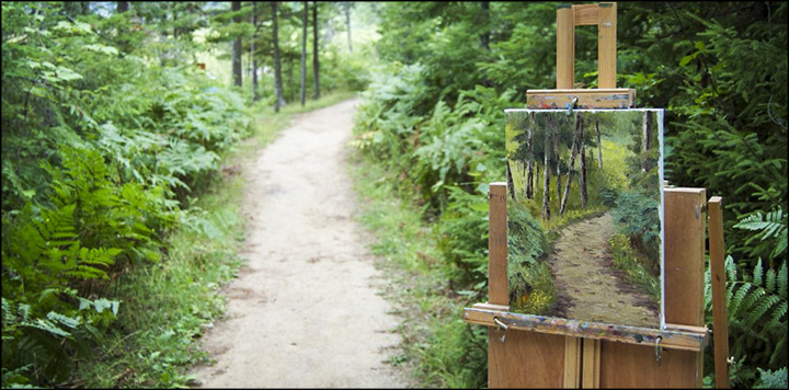 Art at the Paul Smiths VIC:  Plein Air Painting on the Heron Marsh Trail